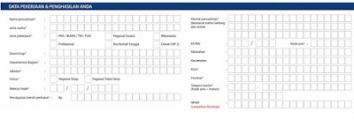 formuler aplikasi kartu kredit bank mandiri