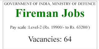 10th Pass jobs 19900-63200 Pay Scale- Ministry Of Defense