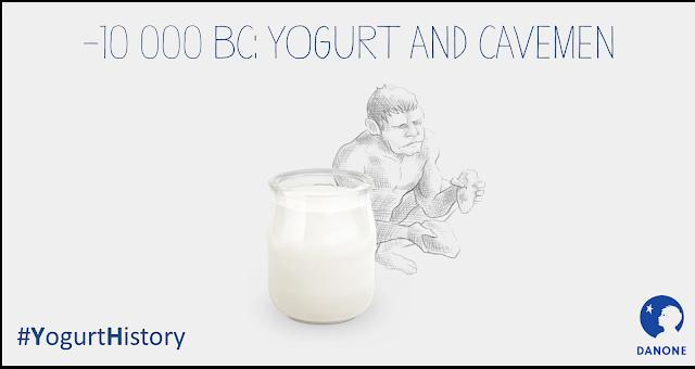 Oui, le yaourt était déjà là au temps de l'homme des cavernes. C'est Danone qui le dit.
