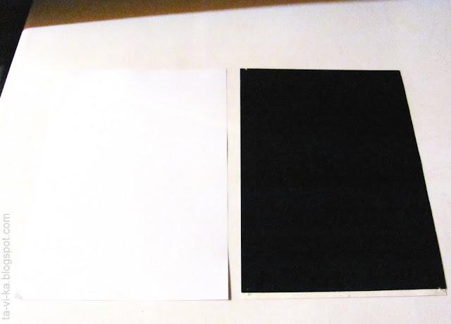 опыт: нагревание белого и черного листа бумаги