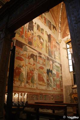 Altri affreschi di una delle cappelle interne del Duomo di Parma