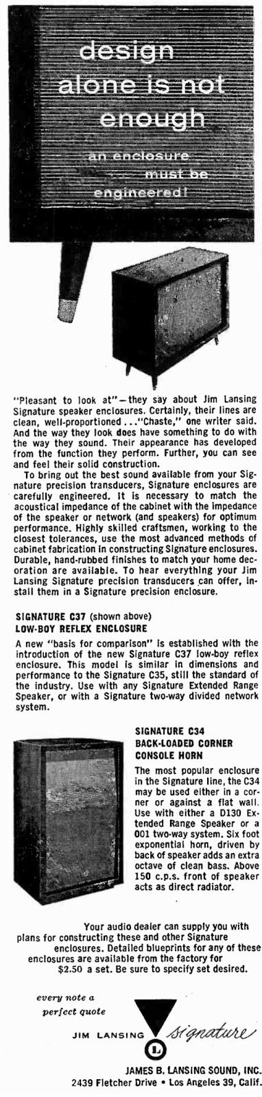 Jim Lansing C34 C37 Advert