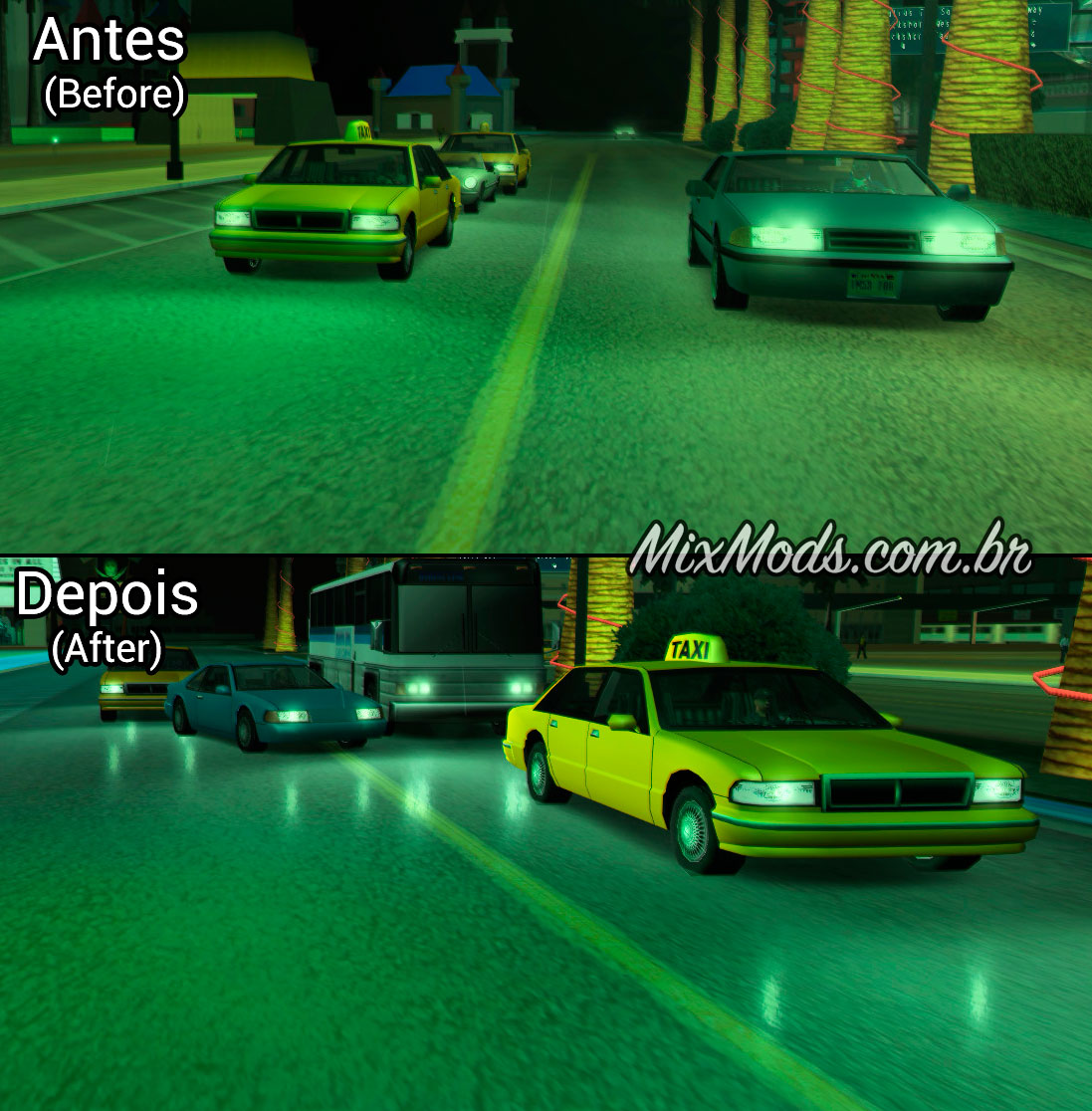 gta sa san mod map fix fixes bug corrigir reflexos molhados wet roads