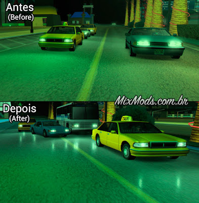 gta sa mod chão ground molhado wet effect headlight rain fix chuva