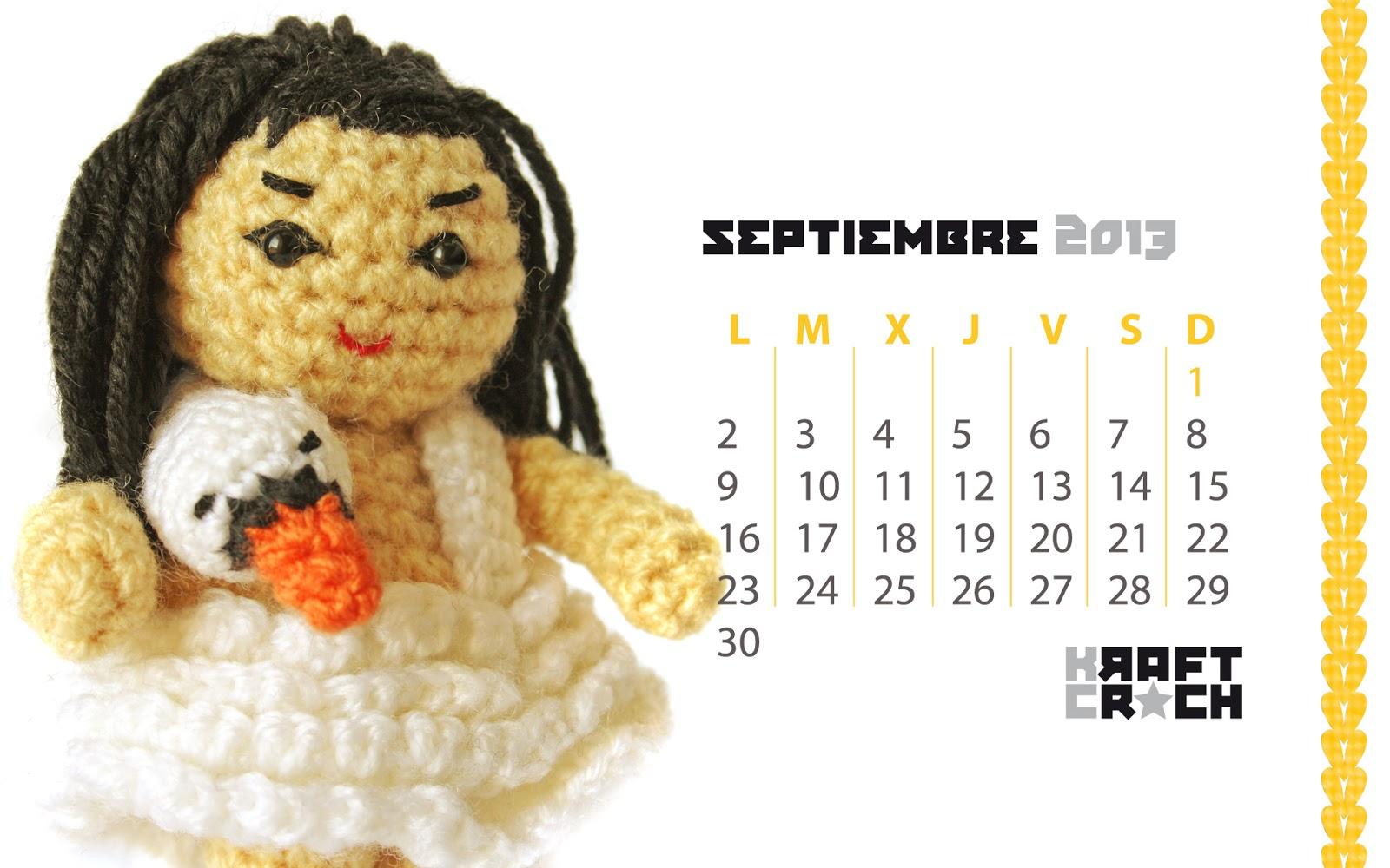 Fondos de Pc Calendarios de Amigurimis