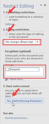 Cara Mengunci File Word Agar Tidak Bisa Diedit
