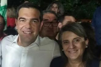 Η Ολυμπία Τελιγιορίδου με τον Πρωθυπουργό στην Φλώρινα (ΦΩΤΟΣ)