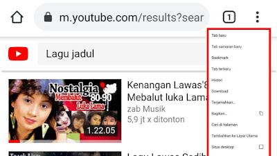 Cara Memutar Youtube di Backgorund