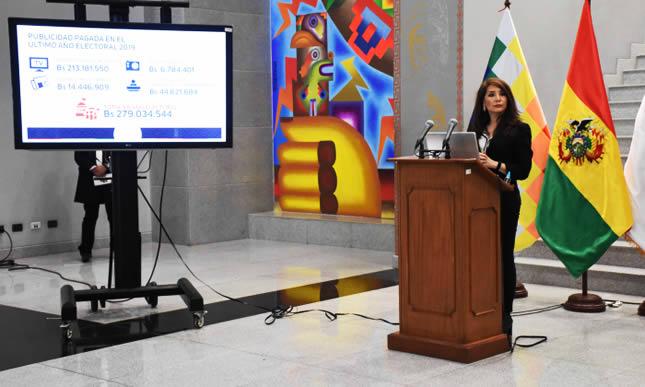 Gobierno de Evo Morales gastó más de Bs 1.718 millones en publicidad, lo que equivale a 4.938 respiradores