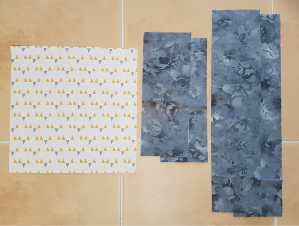 Bordered square quilt block | DevotedQuilter.blogspot.com