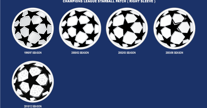 Champions League Starball Patch 2003-2007