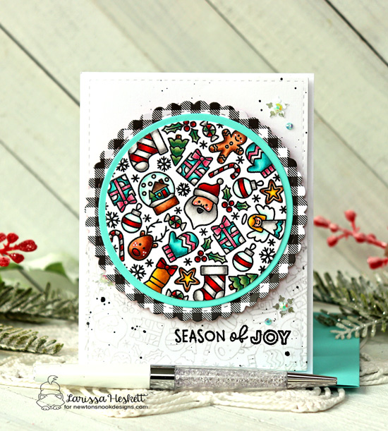 Christmas Card by Larissa Heskett | Christmas Roundabout Stamp Set and Circle Frames Die Set by Newton's Nook Designs