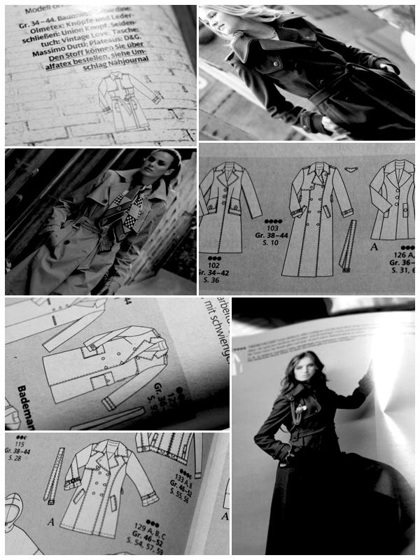 Schnittmuster Trenchcoat pattern Burda sewing nähen