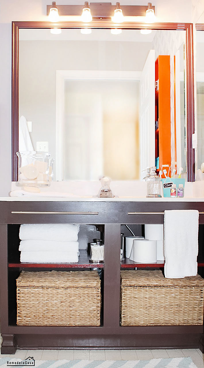 How to add feet to a vanity