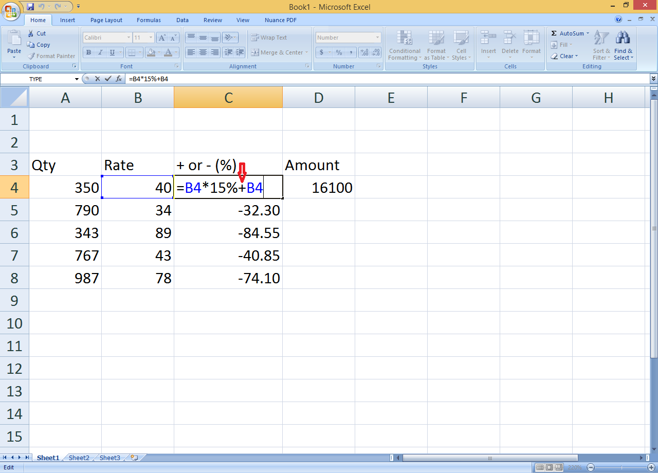 How to Calculate Percentage in Same Column in Excel