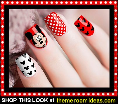 Mickey Mouse Nail Wraps Mickey Mouse nails Mickey Mouse nail designs