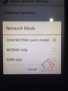 Sinyal Android Hilang