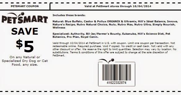 Ideal Balance Dog Food >> PetSmart Coupons: Save $5 Off Natural Dog Or Cat Food | Spend Less, Shop More