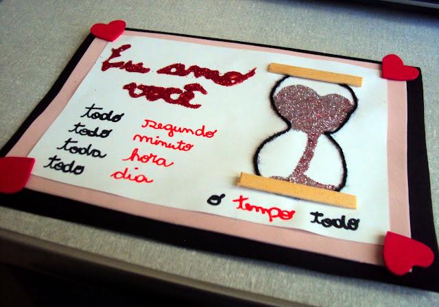 cartão tempo apaixonado