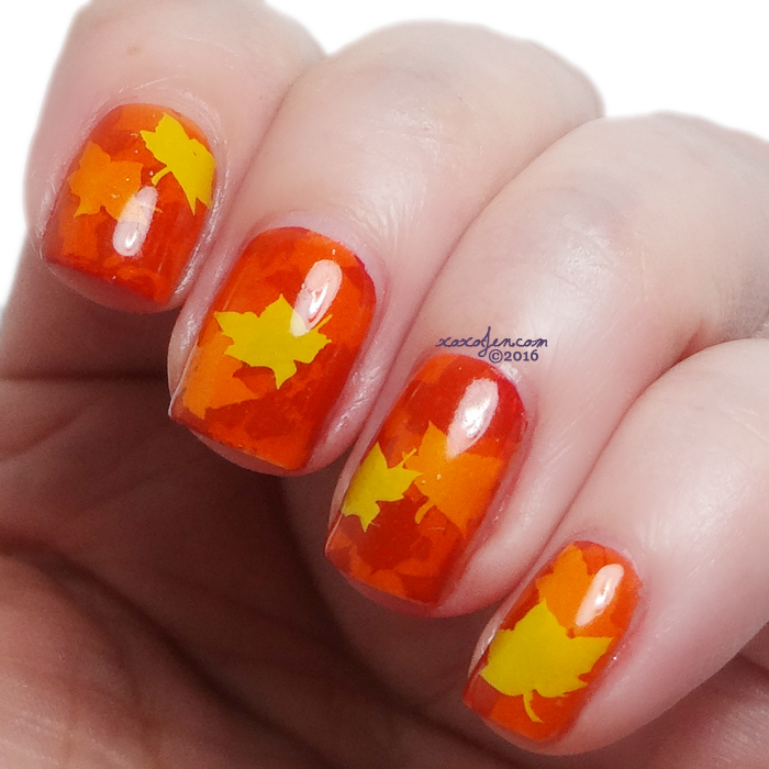 xoxoJen's swatch of Fall Nail Art