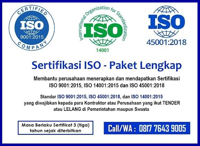 Sertifikasi ISO 9001 14001 45001