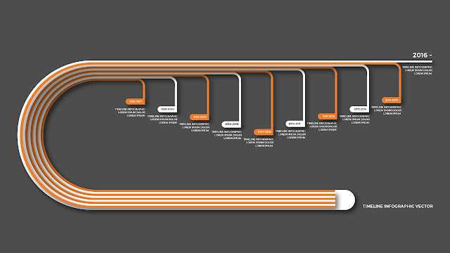 Timeline Infographic Vector for Your Company History slide
