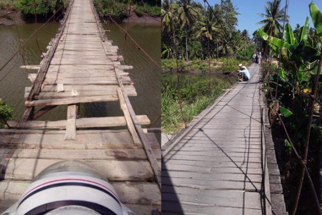 Berusia Puluhan Tahun, Begini Kondisi Jembatan di Sibulue Bone yang Nyaris Ambruk