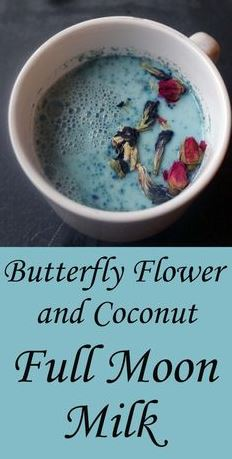 Butterfly Flower and Coconut Full Moon Milk