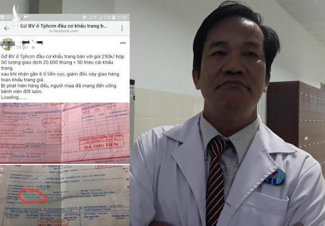 """CA hé lộ cuộc điện thoại cầu cứu của giám đốc bệnh viện quận Gò Vấp trước khi bị """"tố"""" gom khẩu trang bán ra nước ngoài giá tiền tỷ"""