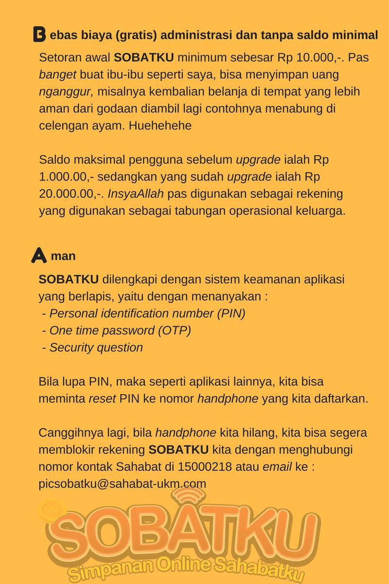 #nabunguntungmilyaranrupiah SOBATKU Simpanan Online Sahabatku
