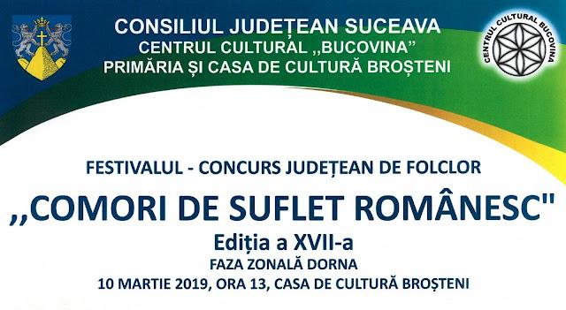 """""""COMORI DE SUFLET ROMÂNESC"""" - Ediția a XVII-a Faza zonală Dorna"""