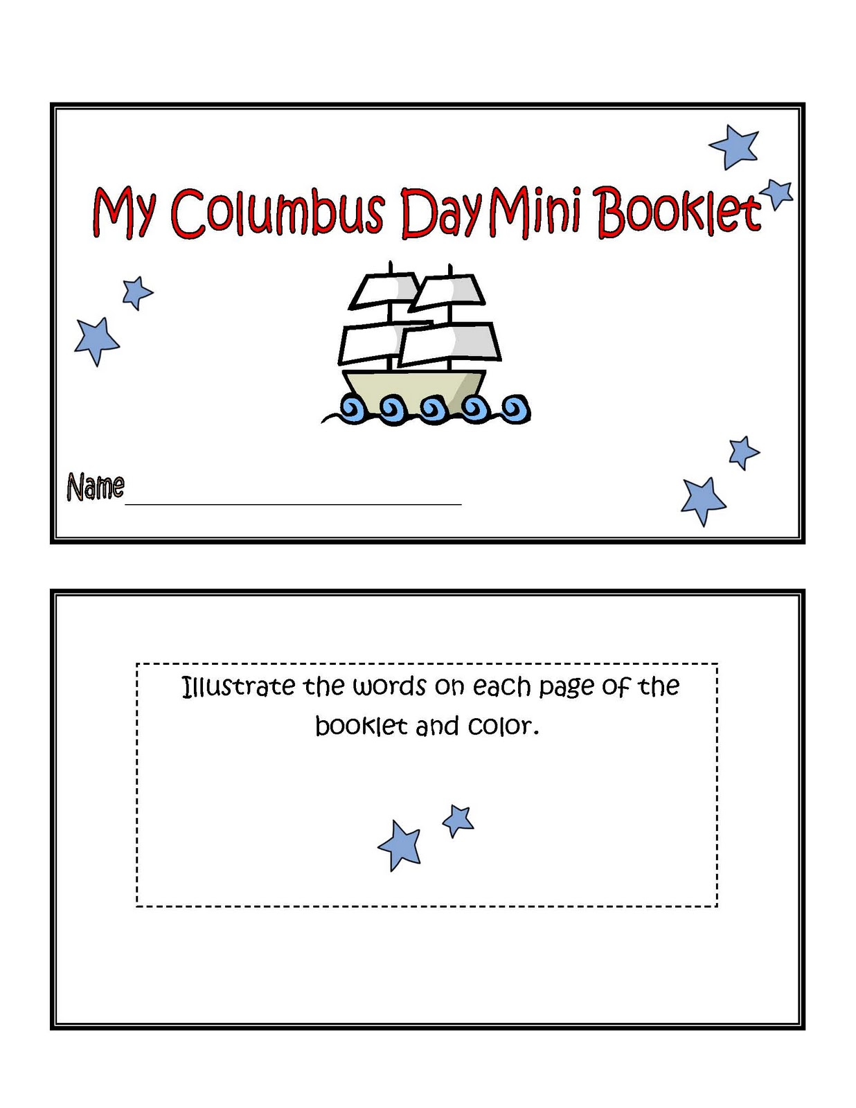 Engaging Lessons And Activities Columbus Day Mini Booklet