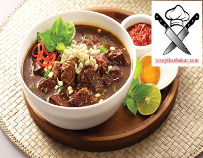 resep rawon daging, resep rawon daging sapi spesial, cara membuat rawon daging sapi, bumbu resep rawon daging sapi