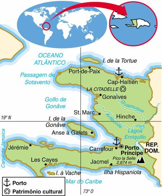 HAITI, ASPECTOS GEOGRÁFICOS E SOCIOECONÔMICOS DO HAITI