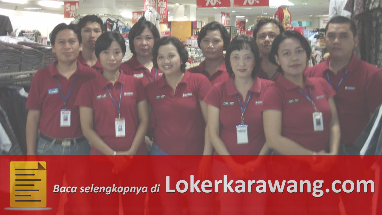 Lowongan Kerja Borobudur Departemen Store Karawang