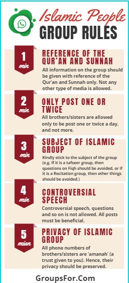 Golden Islamic whatsapp group rules