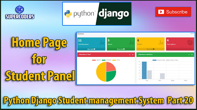 Python Django Student Management System Part 20 | Homepage for Student Panel