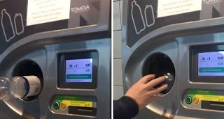 Το μηχάνημα που του βάζεις άδεια πλαστικά μπουκάλια και σου βγάζει λεφτά