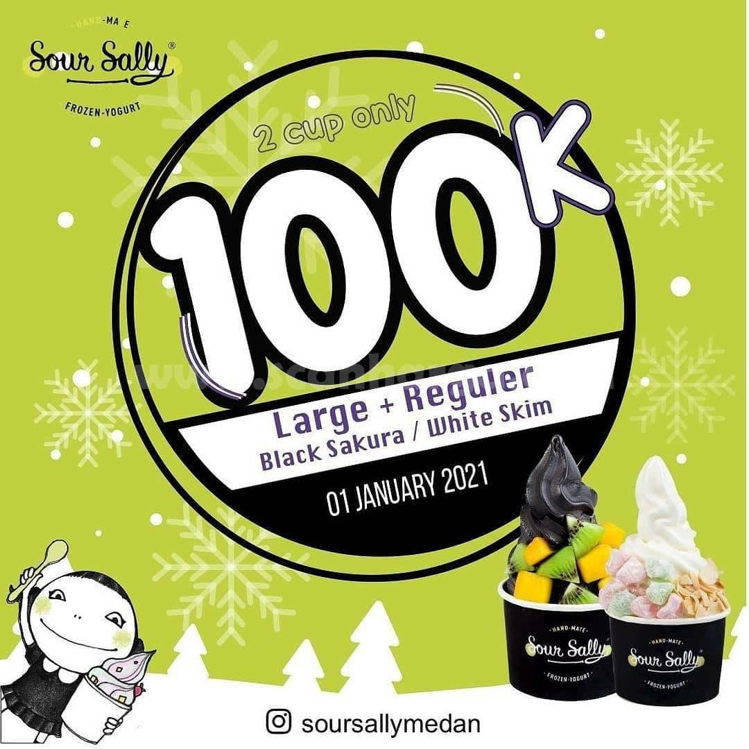 Sour Sally Promo 2 Cup (Large + Regular) hanya 100RB