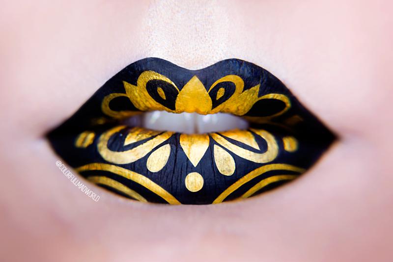 lip art, graphic lip art, graficzny makijaż, makijaż ust,