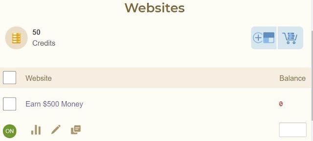 easyhits4u add new website