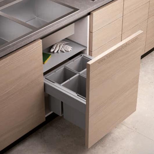 Cubo basura puerta extraible tu cocina y ba o - Altura muebles cocina ...