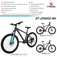 Sepeda Gunung Exotic ET2612AM mtb xc mountain bike