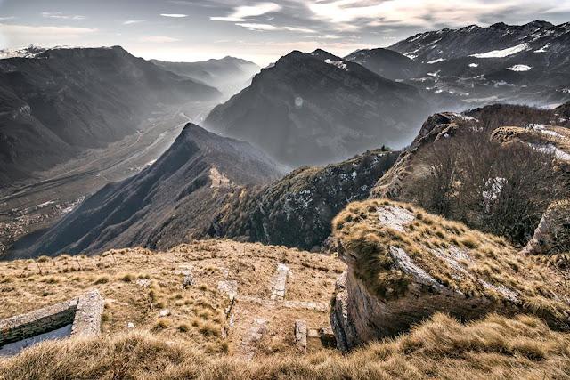 panorama MTB: Mountainbike Tour Corno della Paura Monte Baldo Massiv
