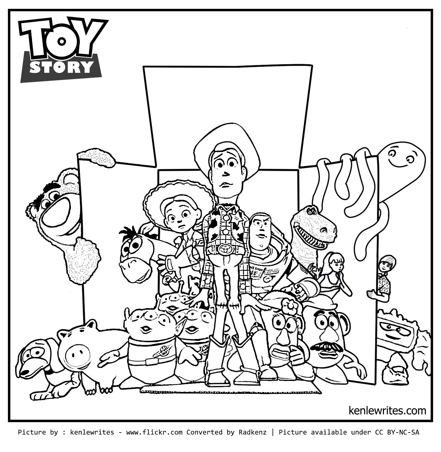 Radkenz Artworks Gallery Toy Story 3 Coloring Page