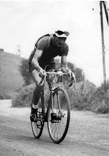 Gino Bartali on his way to victory in the 1938 Tour de France
