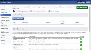 Filtro Facebook