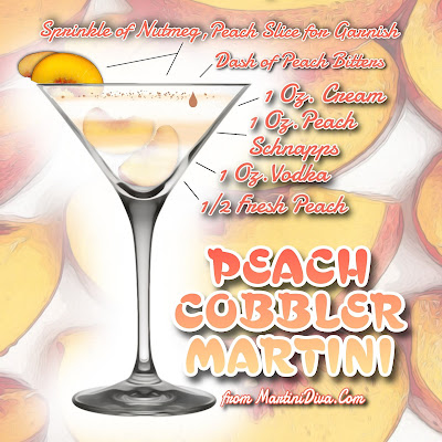Peach Cobbler Martini Cocktail Recipe with Ingredients and Instructions