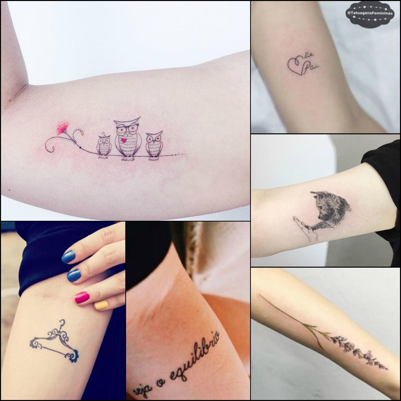 Tatuagem Feminina Delicada No Braço