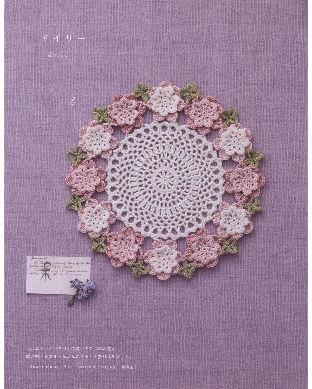 PATRONES GRATIS DE CROCHET: Bello TAPETE, CARPETA con flores a ...